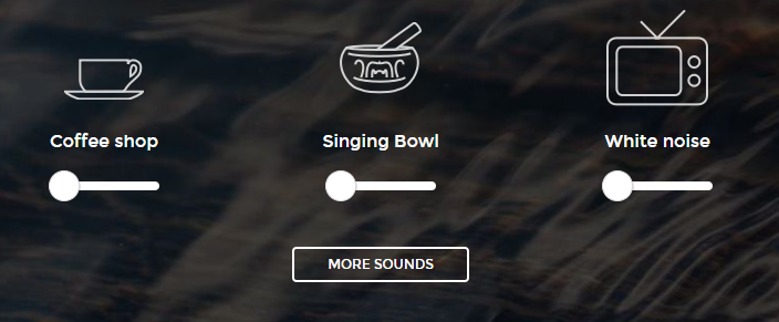 A picture of a coffee mug, singing bowl, and TV illustrating the many sounds you can make
